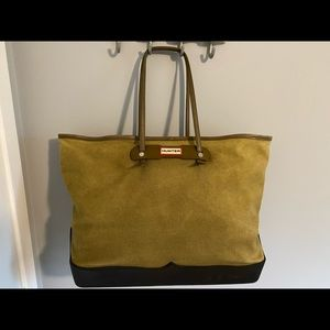 Hunter Tote - Canvas with Rubber Bottom.